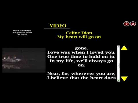 "Aprende ingles cantando: ""My heart will go on""Celine Dion"